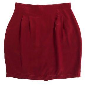 Diane Von Furstenberg 100% Red Mini Skirt